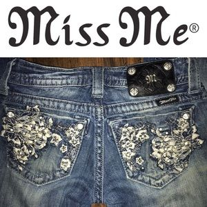 Miss Me Boot Dark Wash Jeans in Size 24